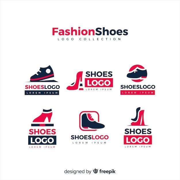 Sammlung von Modeschuh-Logos Kostenlose Vektoren