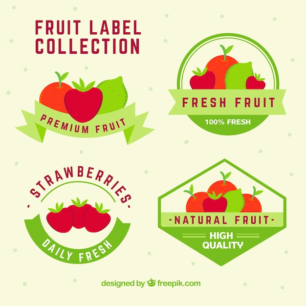 Obst Aufkleber