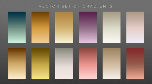 Sammlung von premium-vintage-gradienten Kostenlosen Vektoren