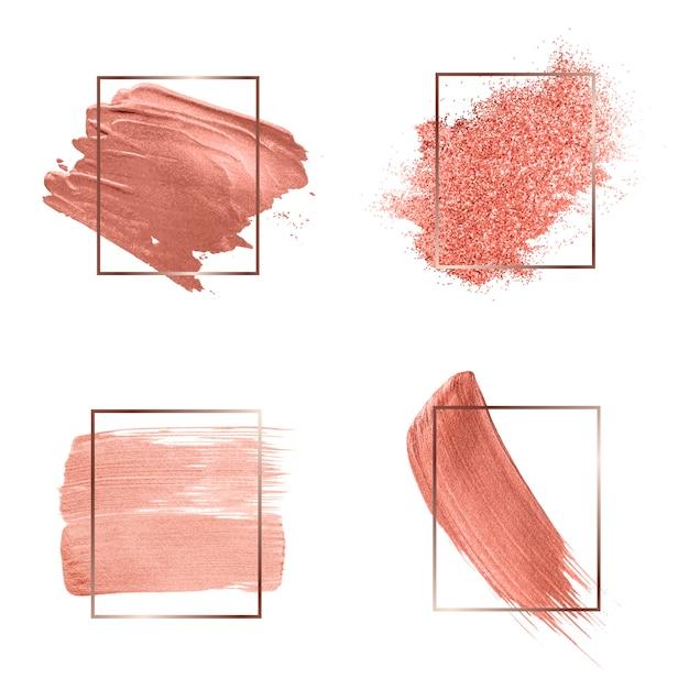 Sammlung von rosa pinselstrichen Kostenlosen Vektoren