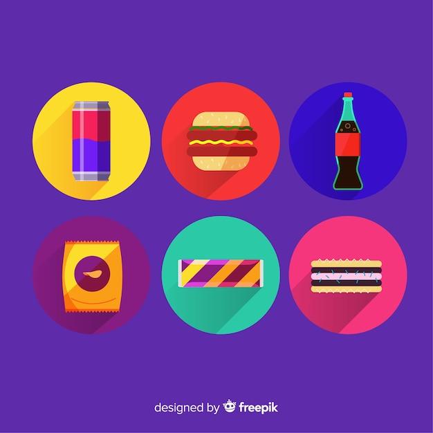 Sammlung von snacks Kostenlosen Vektoren