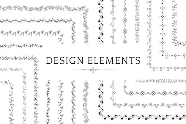 Sammlung von teiler designelement vektoren Kostenlosen Vektoren