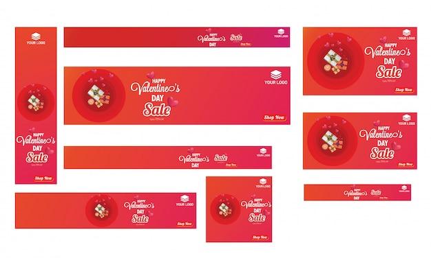 Sammlung von verkauf banner oder poster design Premium Vektoren