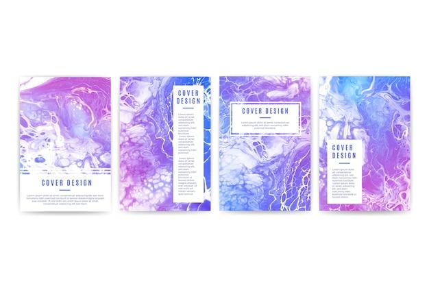 Sammlung von verschiedenen cover-designs Kostenlosen Vektoren