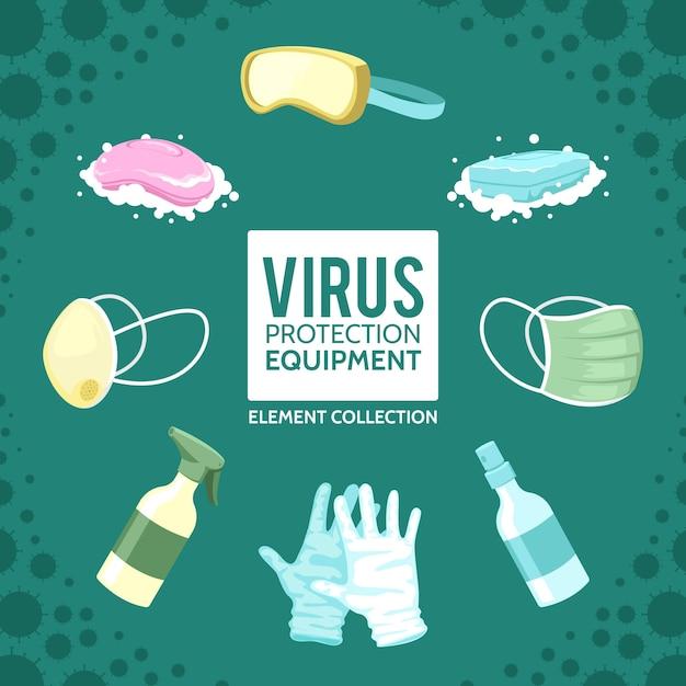 Sammlung von virenschutzgeräten Kostenlosen Vektoren