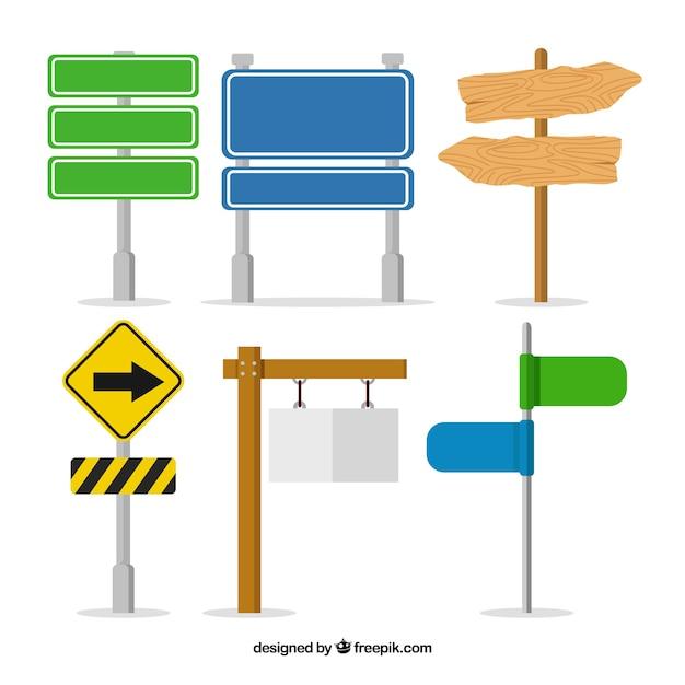 Sammlung von Zeichen in flachen Design Kostenlose Vektoren