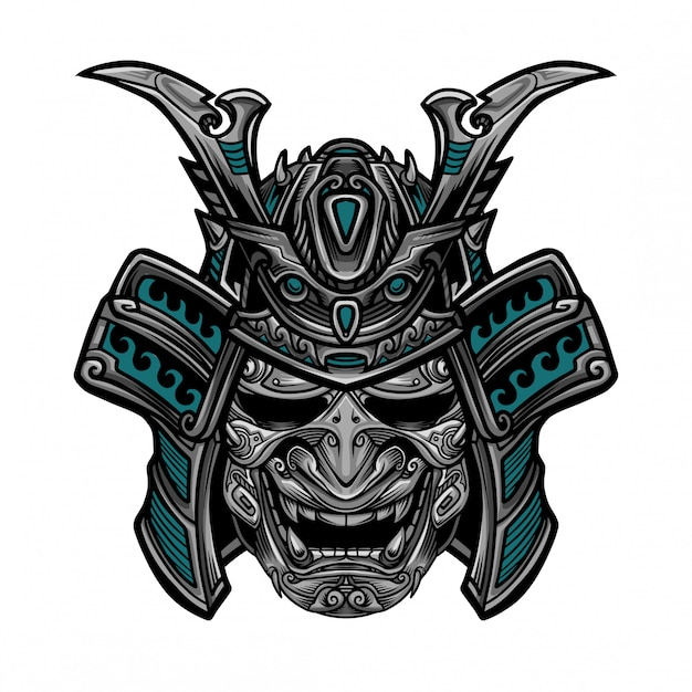 Samurai hanya maskenvektor Premium Vektoren