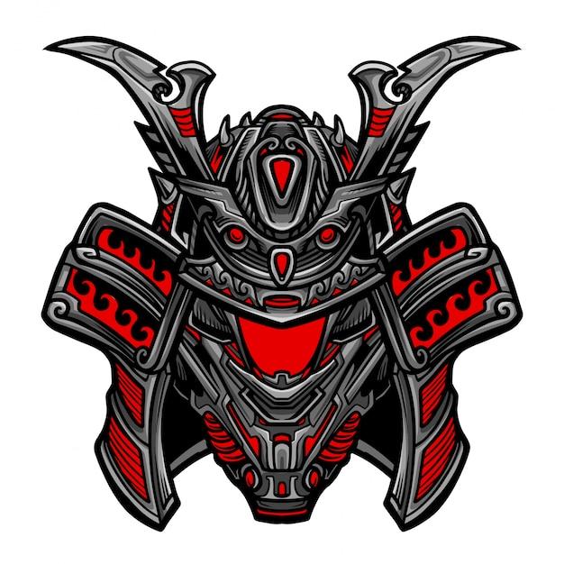Samurai-roboter-vektor Premium Vektoren