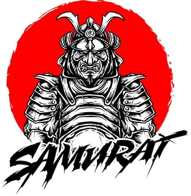 Samurai-vektor-design Premium Vektoren
