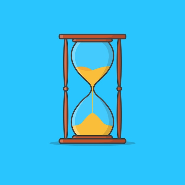 Sanduhrglas-symbol-illustration. sandglas-ikone. sand timer. sanduhr uhr Premium Vektoren