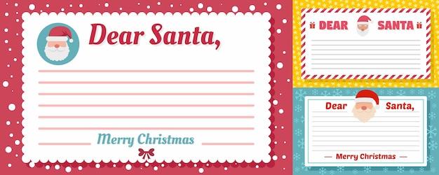 Santa brief banner festgelegt Premium Vektoren
