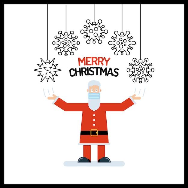 Santa claus alter mann charakter in rot mit den händen nach oben Premium Vektoren