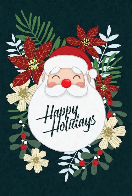 Santa frohe feiertage Premium Vektoren