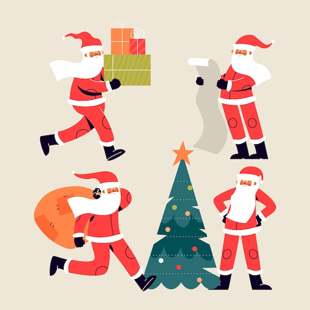 Santa klausel charakter Premium Vektoren
