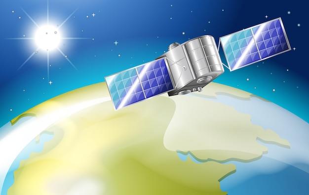 Satellit im weltraum Kostenlosen Vektoren