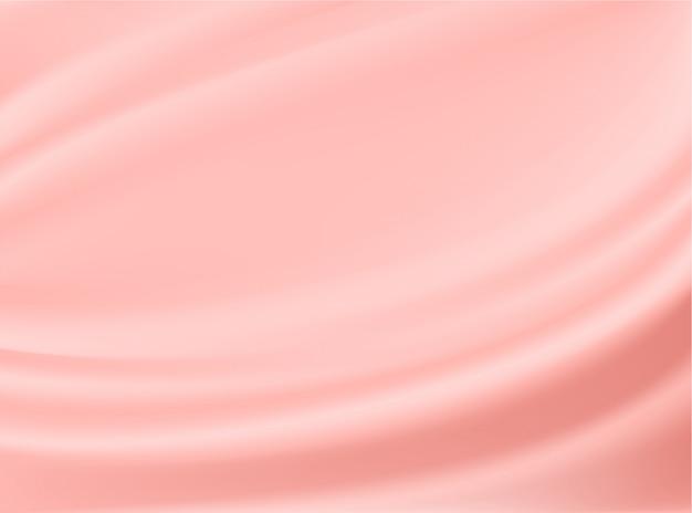 Satin roségold stoff stoff isoliert auf konzept design hintergründe Premium Vektoren