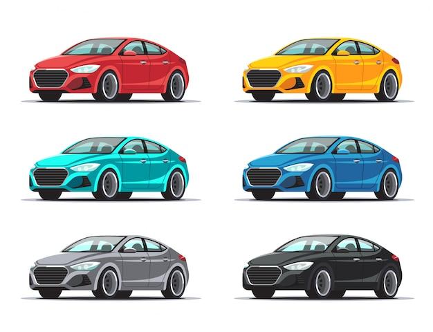 Satz autodesign Premium Vektoren