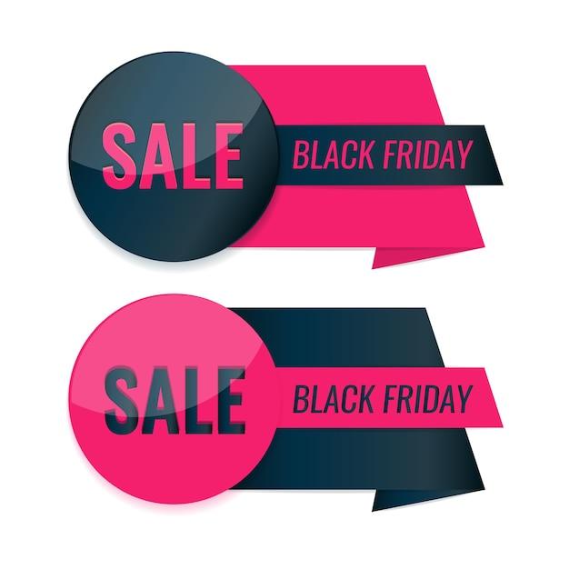 Satz black friday-etiketten. sale tag design. Premium Vektoren