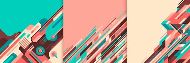Satz bunte geometrische abstraktionen. Premium Vektoren