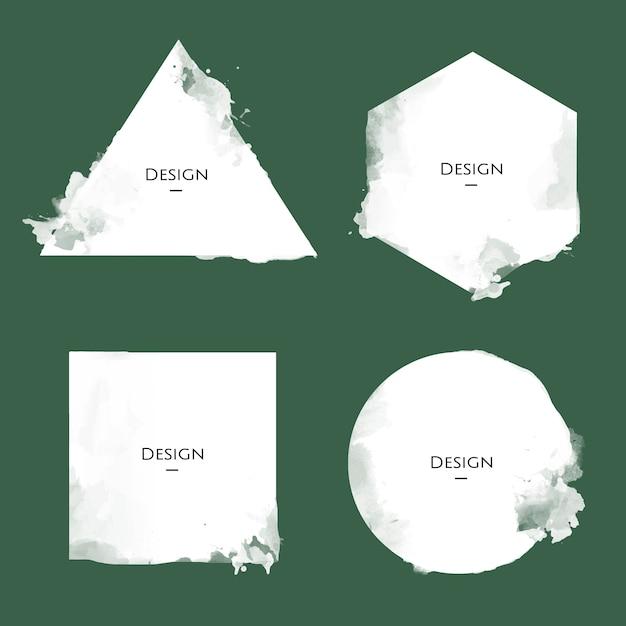 Satz der mitteilungs-ausweisschablonen-designillustration Kostenlosen Vektoren