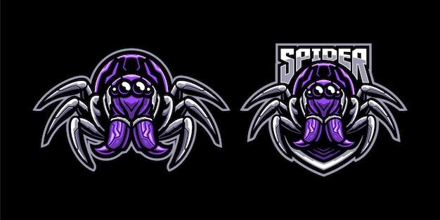 Satz der spinnenmaskottchenillustration Premium Vektoren