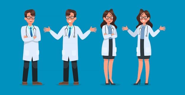 Satz des doktorcharakters Premium Vektoren