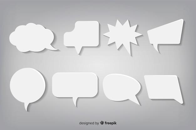 Satz flache designsprache sprudelt in der papierart Kostenlosen Vektoren