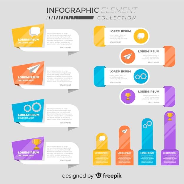 Satz flache infographic elemente Kostenlosen Vektoren