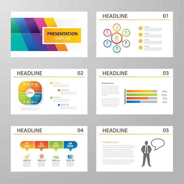 Satz flaches design der infographic darstellungsschablone Premium Vektoren