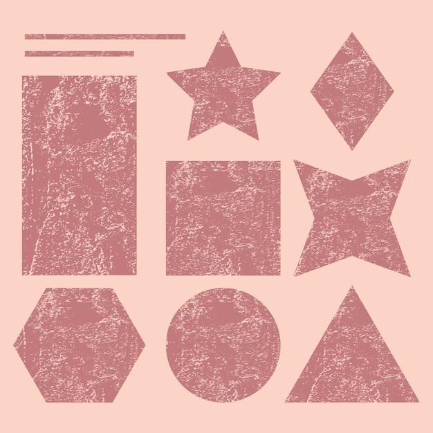 Satz geometrische formen des schmutzes Premium Vektoren