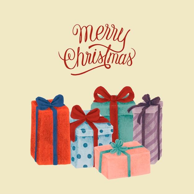Satz hand gezeichnete weihnachtsabbildungen Kostenlosen Vektoren