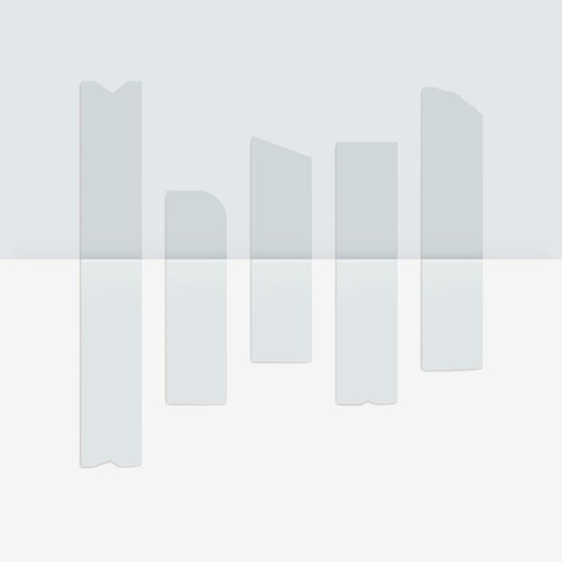 Satz klebende klebebandklebebänder, die auf weiß isoliert werden Premium Vektoren