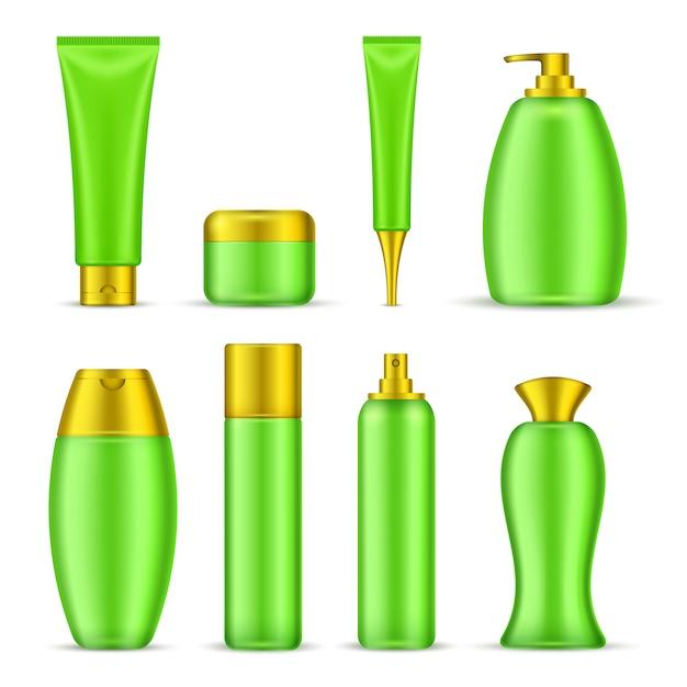 Satz kosmetikverpackung Kostenlosen Vektoren
