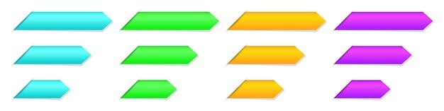 Satz leere bänder, lesezeichen oder etiketten Premium Vektoren