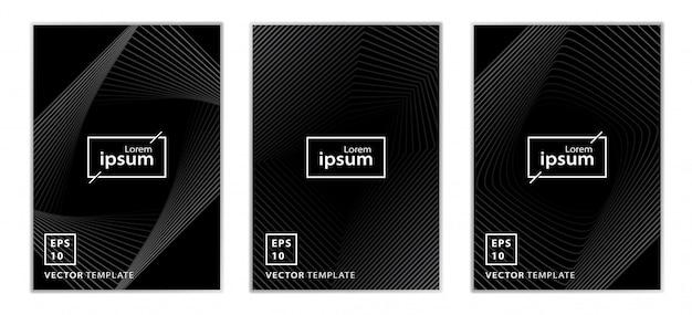 Satz minimales geschäftsbroschüren-abdeckungsdesign Premium Vektoren