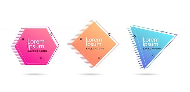 Satz moderne abstrakte vektorfahnen Premium Vektoren