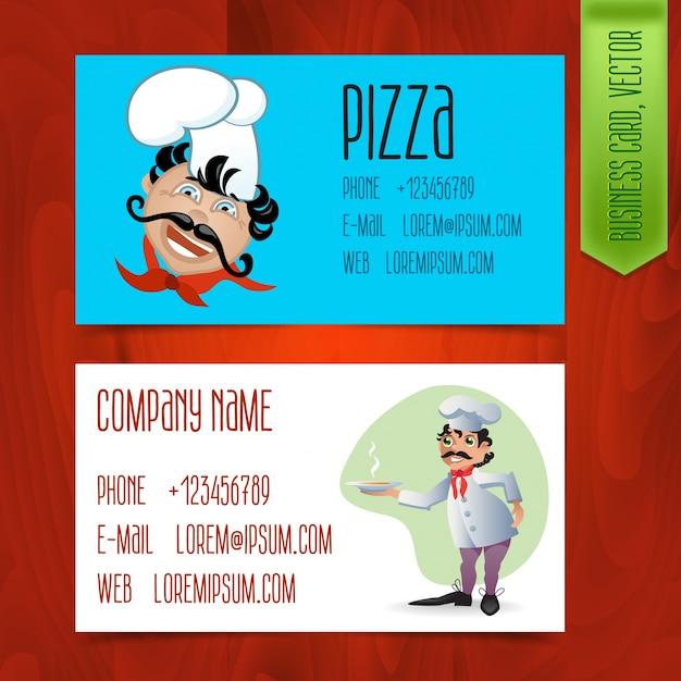 Satz moderne visitenkarten für restaurants Premium Vektoren