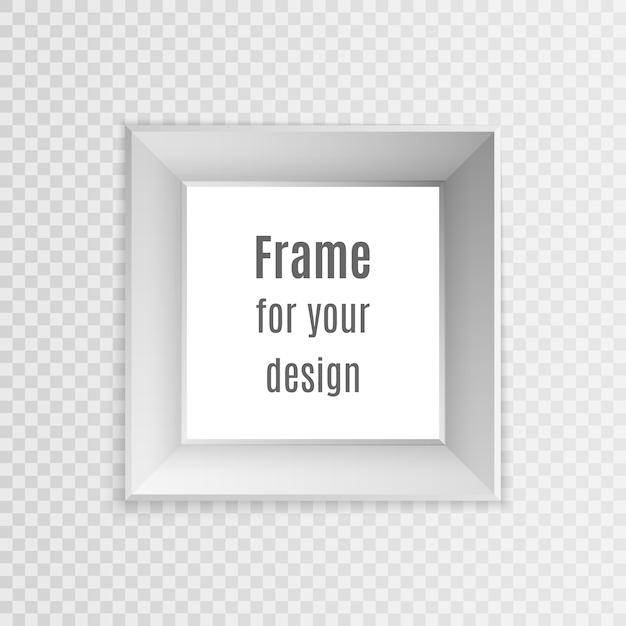 Satz realistische weinleserahmen der weinlese lokalisiert auf transparentem hintergrund. fotorahmen layout design. Premium Vektoren