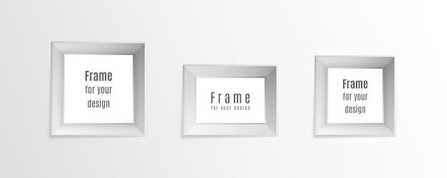 Satz realistische weinleserahmen der weinlese lokalisiert auf transparentem hintergrund Premium Vektoren