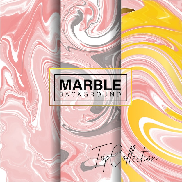 Satz rosa marmorbeschaffenheitsdesign Premium Vektoren