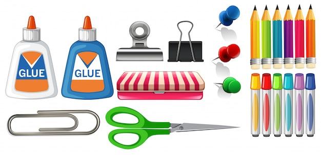 Satz stationärer objekte Kostenlosen Vektoren