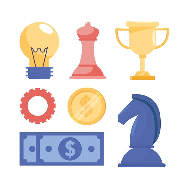 Satz stratgy informationen des teamwork-geschäfts Kostenlosen Vektoren