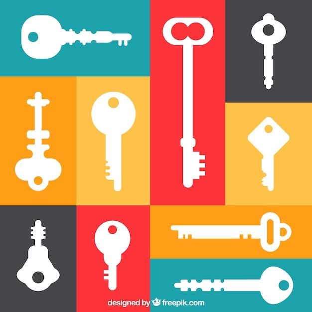Satz verschiedene schlüssel Kostenlosen Vektoren