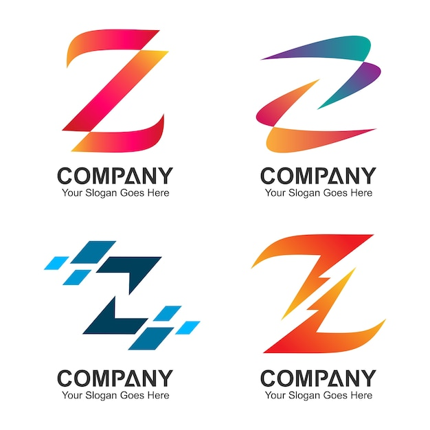 Satz von buchstaben z-logo-design Premium Vektoren