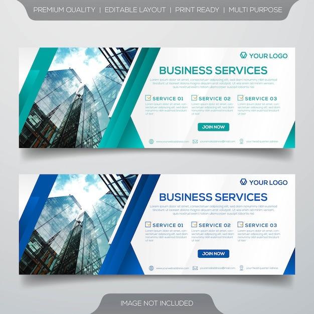 Satz von business-banner-vorlage Premium Vektoren