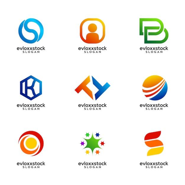 Satz von business logo design vector template Premium Vektoren
