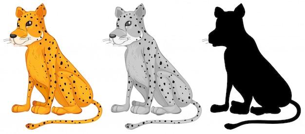Satz von gepard-charakter Kostenlosen Vektoren