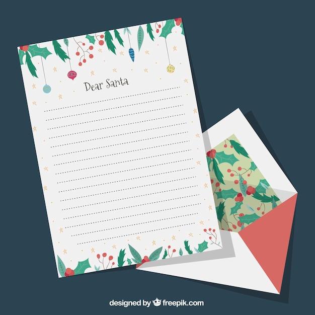 Satz Von Hand Gezeichneten Vorlagen Von Weihnachten Brief Mit Einem
