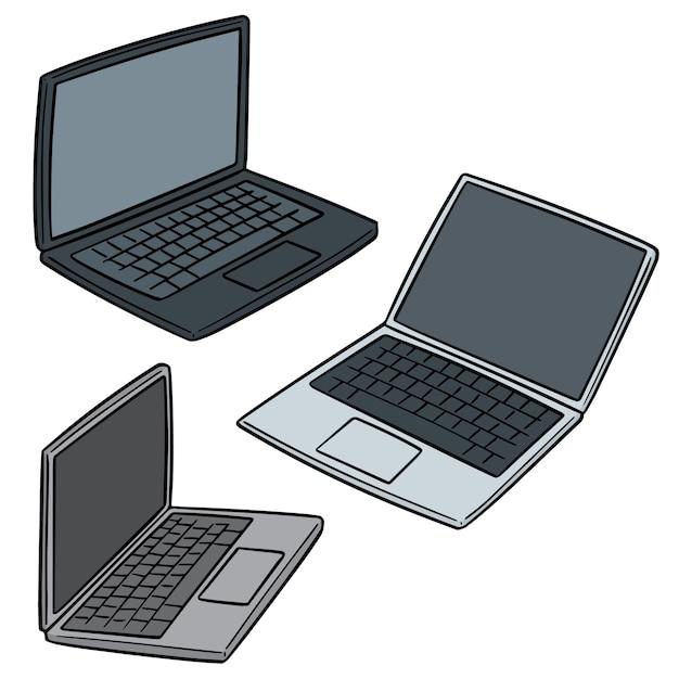Satz von laptop Premium Vektoren