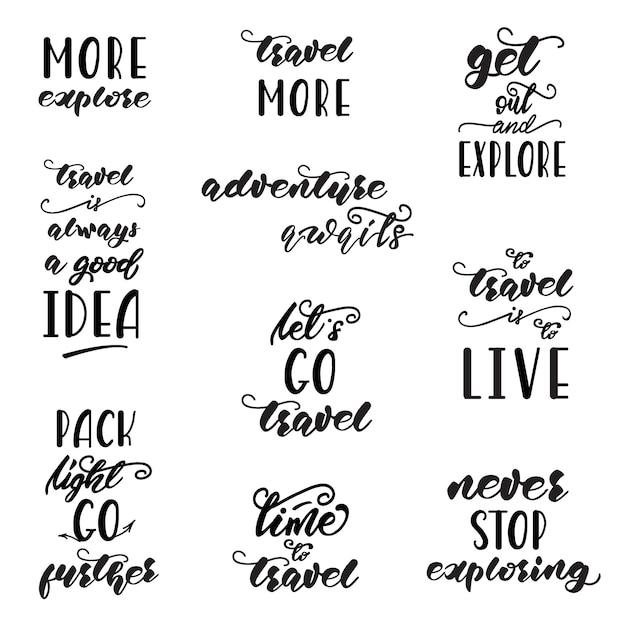 Satz von schriftzug designs Premium Vektoren